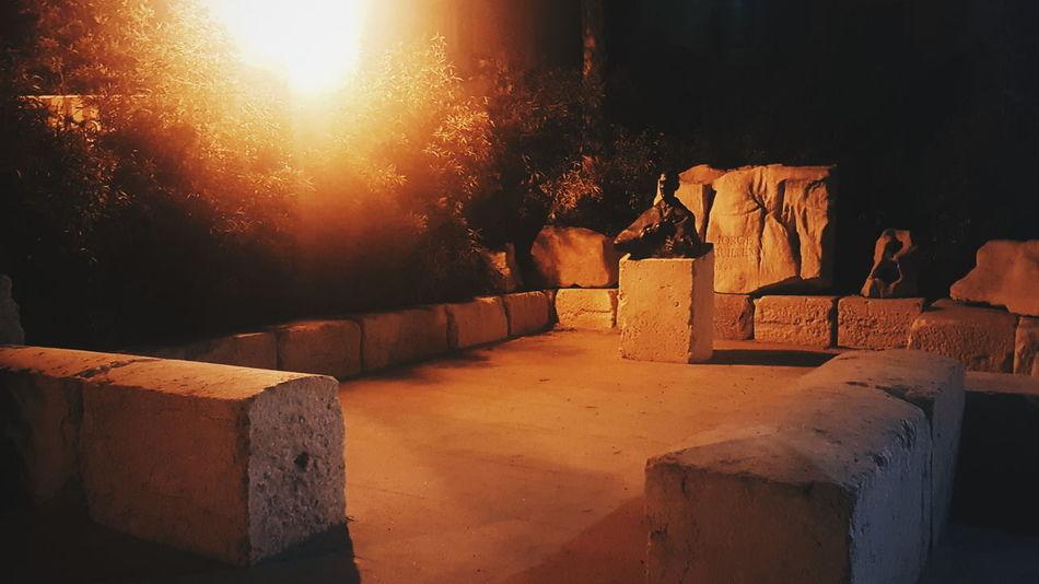 Jorge Guillén Literature Art Poetry Generación Del 27 SPAIN Spanish History Travel Destinations Outdoors Night Architecture Ancient No People Statue Sculpture Places