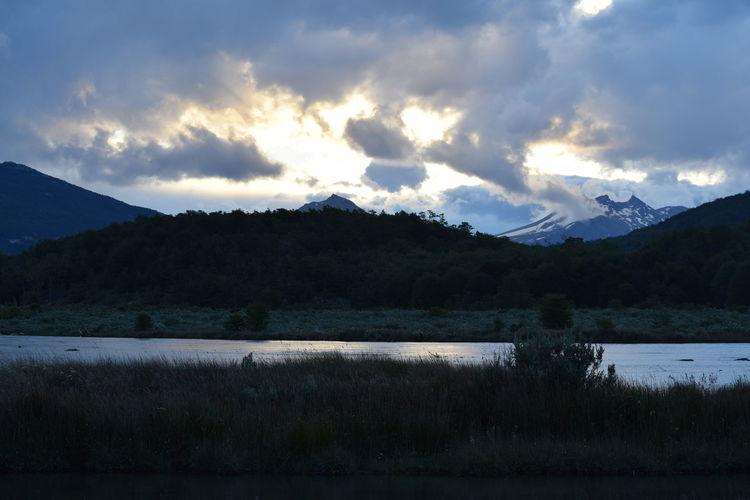 Parque Nacional Tierra Del Fuego Ushuaia Argentina Tree Mountain Water Lake Reflection Forest Sky Landscape Cloud - Sky Mountain Range
