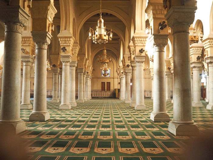 #Mosque #cairo Islam# Architectural Column Architecture Built Structure History Indoors  No People