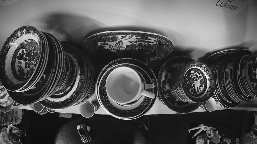 Flatlay Blue Indoors  No People Close-up China Pottery Culture Antique Deep Fisheye Wide Gopro Black And White Old Rare Expensive Oddities Samuel Taft