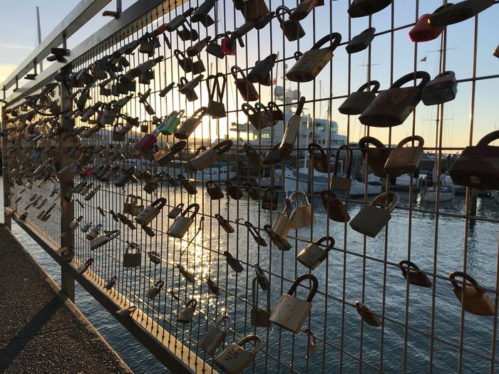 Love Padlock Lock Love Lock Hanging Abundance Large Group Of Objects Day No People Outdoors Water Sky