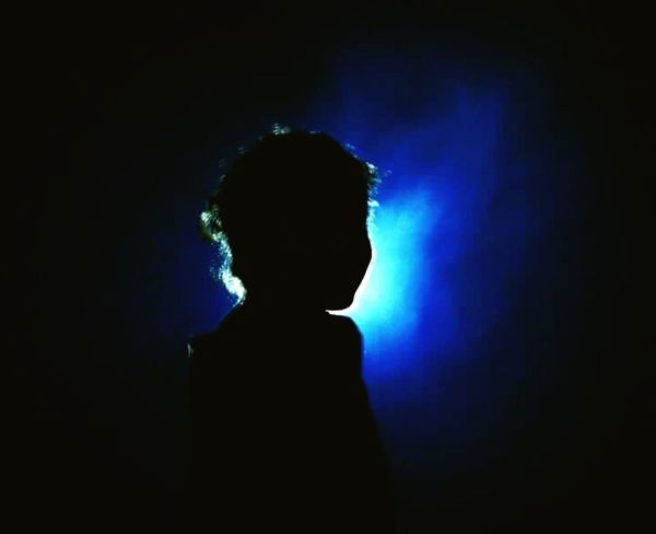 Child One Person Blue Children Only People One Girl Only Illuminated Night EyeEmNewHere EyeEm Diversity