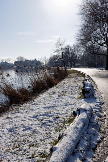 Around The Bend We'll Meet Again Trying To Get It Right  River Amstel Snow Melting Light And Shadow Inspirations Everywhere.