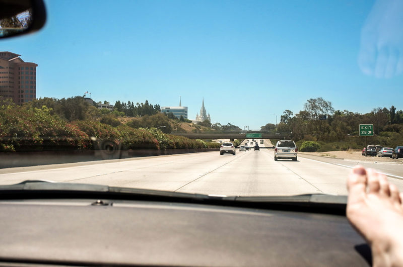 California Car City Clear Sky Journey Leading On The Move Relaxing Road Road Marking Road Trip Street The Way Forward Transportation Travel Urban