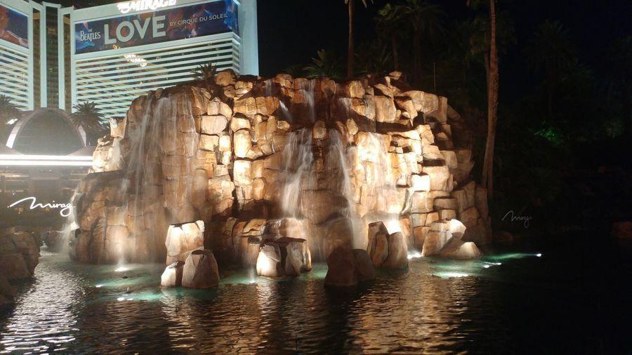 Water Indoors  No People Night Architecture Las Vegas Outdoors Vulcan Vulcano Mirage Hotel