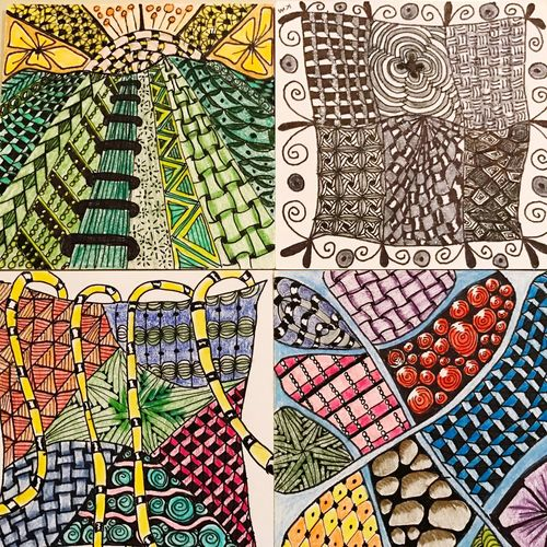 "Pattern Design Textured  Backgrounds No People Indoors  Day my so called ""zentangles"" or doodling with purpose😊 Handmade For You"