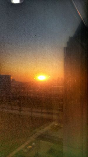 The Impurist Dirty Glass Window Sunrise Eye Am Nature Darkness And Light Inner Reflection Show-me-state Of Mind UFO?