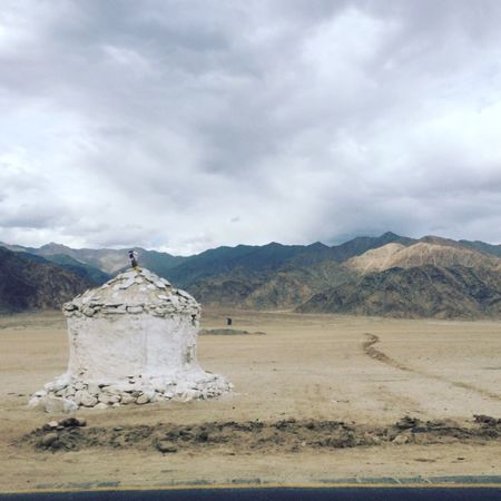 Ground Mountain Landscape Cloud - Sky Mountain Range Beauty In Nature Cloudy No People Physical Geography Storm Cloud Outdoors Mountain Peak EyeEm Nature Lover Leh Ladakh TravelDestinations Tourism Heaven♥ @ranjhan
