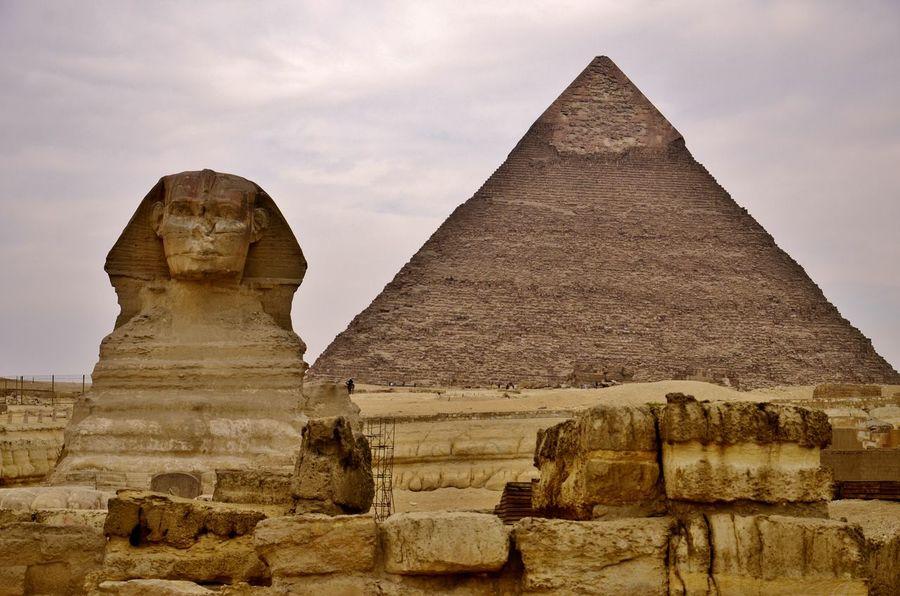 Egypt Cairo Sfinx Pyramid