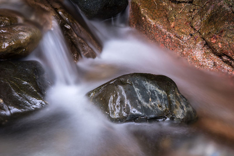 Silky water flowing among rocks in strong colors Colors Creek Nature Nature Photography Textures Beauty In Nature Endurance Rocks Silky Water Stream Tough Water