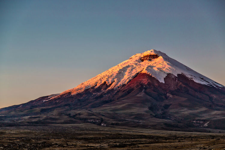 Beauty In Nature Clear Sky Cotopaxi Day Ecuador Landscape Mountain Mountain Range Nature No People Outdoors Peak Scenics Sky Tranquil Scene Tranquility