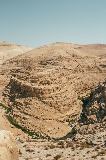 Judaean Desert Sky Environment Landscape Scenics - Nature Nature Clear Sky Desert Tranquility Non-urban Scene Beauty In Nature Land Tranquil Scene Climate Day Arid Climate No People Mountain Remote Barren Extreme Terrain Outdoors Formation Eroded