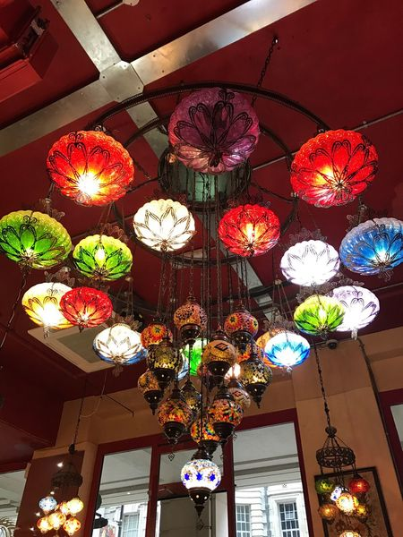 Ottoman Chandelier Ottoman Chandelier Turkish Turkish Lamp Lighting Equipment Hanging Illuminated Decoration Low Angle View Lantern Cultures Red Light Bulb Electricity  Multi Colored No People Indoors  London Photography EyeEm Best Shots Art By Laziz