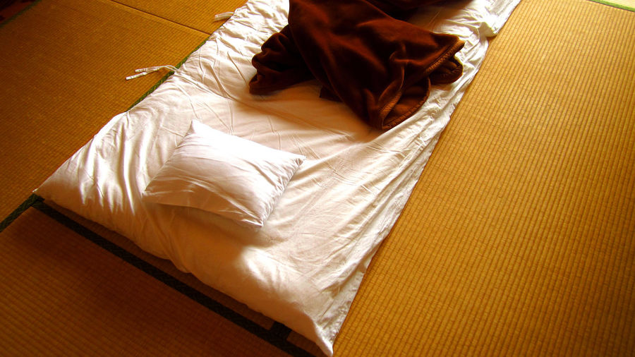 High Angle View Bed At Home