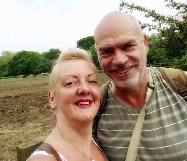 Happy couple at the farm....❤️ Farm Man And Woman Two People Portrait Emotion Smiling Real People Togetherness Headshot Bonding Happiness Love Plant Positive Emotion