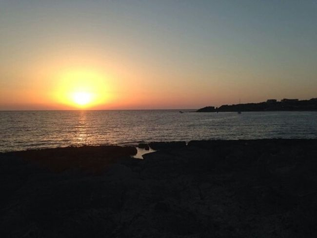 Sea And Sky Silent Moment Sunset Sun ☀ Beautiful Nature