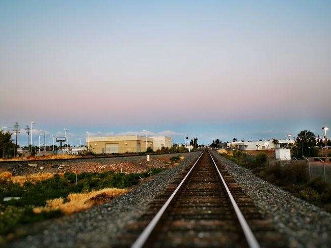 California Countryside Glamour Alpenglow Cotton Candy Sky Railroad Tracks Small Town Portrait Of America