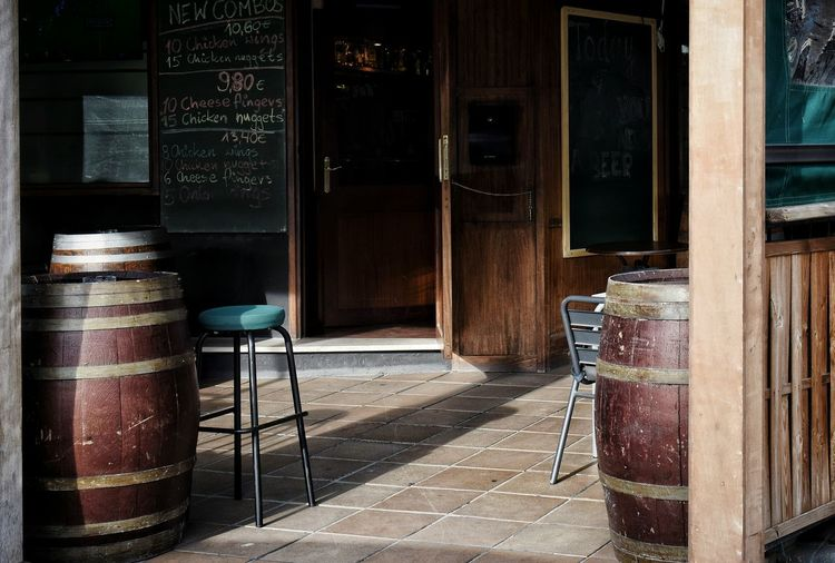 Entrance of pub