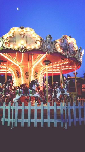 Beautiful Carousel Playground Moonlight Myjobcanbefun