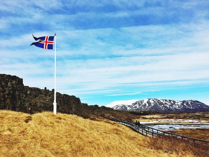 Flag Iceland Mountains Pingvellir History Historical Monuments Iceland_collection Iceland116