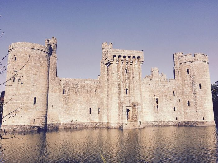 Bodiam Castle Architecture History Old Ruin Clear Sky Travel Destinations Outdoors Day Water No People Building Exterior Built Structure 600 Years Old First Eyeem Photo