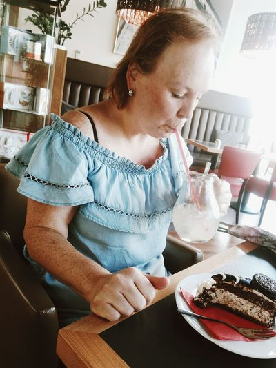My lovely mum on her surprise for nameday. ❤ Mum ByTera My Mum ♥  First Eyeem Photo