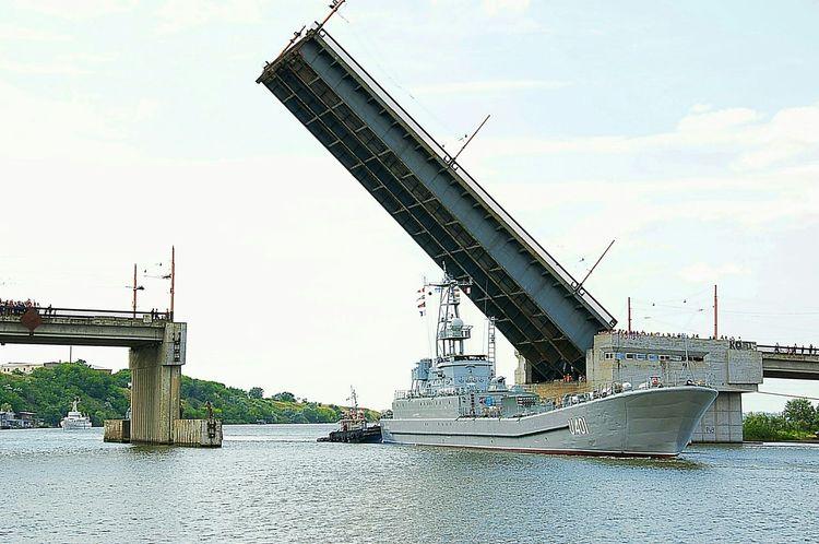 amphibious assault ship, the Ukrainian Navy, ship, the drawbridge