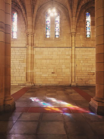 """""""Chase the light, whatever and wherever it may be for you. Chase it."""" Tyler Knott Gregson Religion Window Indoors  Illuminated Architecture No People Multi Colored Day VSCO Blessed  God Is Good Tranquil Scene Place Of Worship Brisbane Built Structure Indoors  Architecture In-between"""
