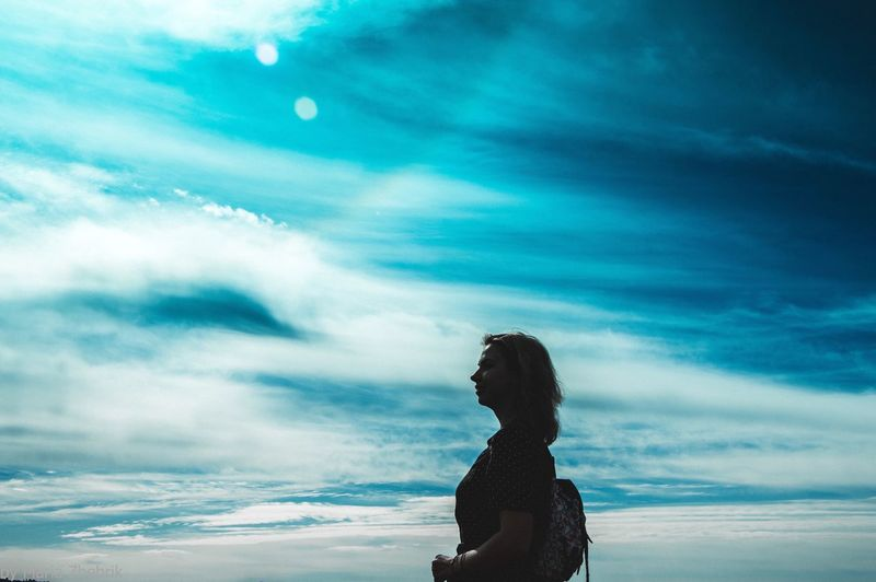 Deep sky Cloud - Sky Real People Sky One Person Nature Leisure Activity Lifestyles Day