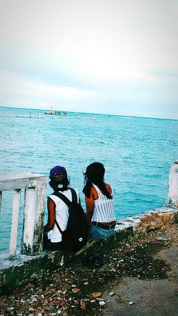 Friends ❤ Goodvibes✌️ Beachphotography Praiadepontaverde NOstress Happy Blue Ocean Relaxing