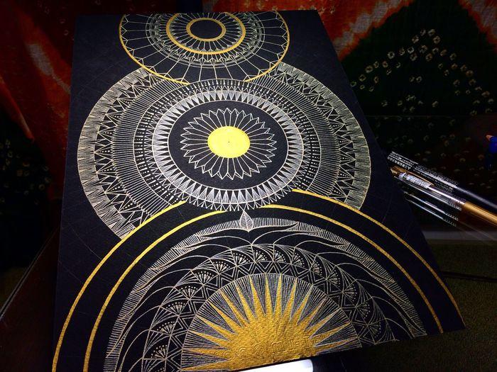 YohkoAmaterraArt Halfway 曼荼羅 Sacred Geometry Mandala My Drawing Drawing Art ArtWork