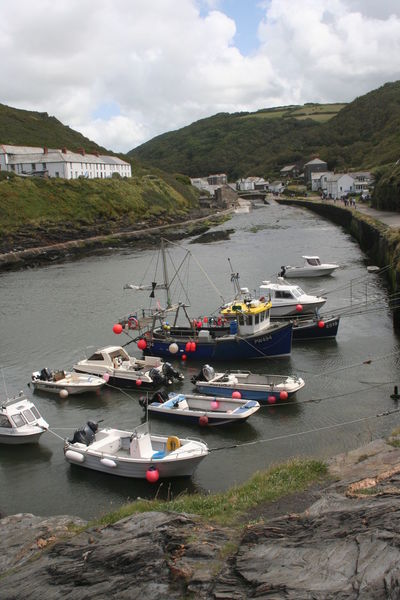 Architecture Boat Boscastle Boscastleharbour Building Exterior Built Structure Cloud Cloud - Sky Cloudy Cornwall Day Harbor Lake Mode Of Transport Moored Mountain Nature Nautical Vessel River Sky Transportation Water Waterfront