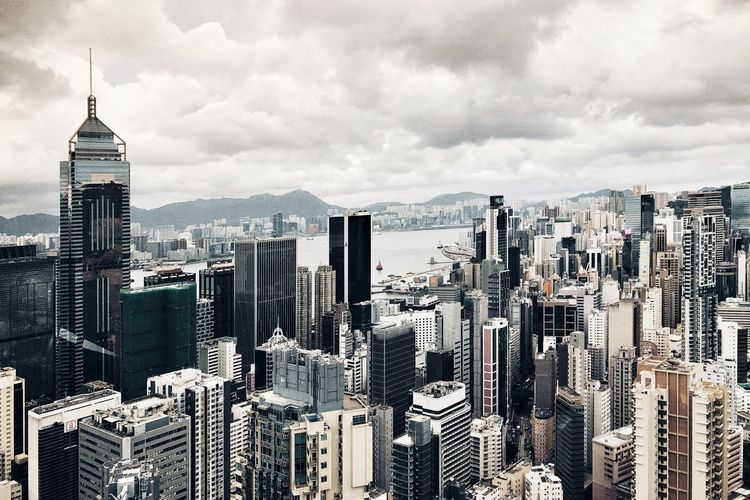 Dramatic Sky Hong Kong Storm Cloud Storm Cloud - Sky Built Structure Architecture Sky Building Exterior Building City Cityscape Office Building Exterior Tower Skyscraper Tall - High Landscape Financial District  No People Travel Destinations Nature Urban Skyline Modern Day