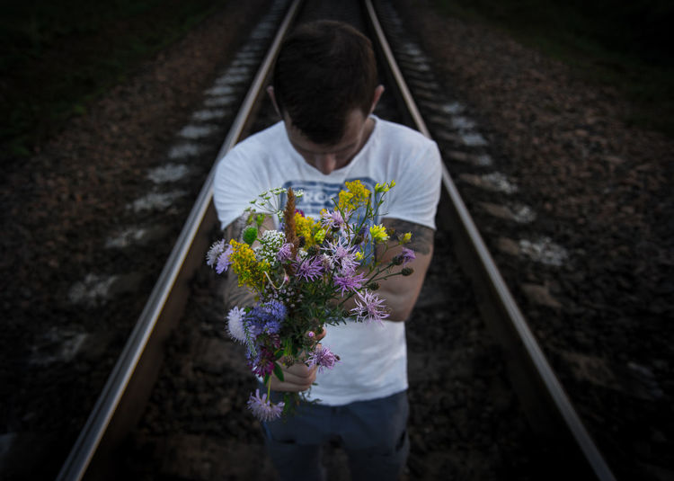 Returning From My Point Of View By Ivan Maximov Lifestyle Scenics Eyeem Photo Bouquet Of Flowers Lifestyles Nature Lover Take It Center Tranquility Freshness Exceptional Photographs Composition Rural Scene Railway High Angle View Our Best Pics Magic Of Nature Summer Nature Colors Of Summer Transportation Poertrait Depth EyeEm Ready   The Still Life Photographer - 2018 EyeEm Awards