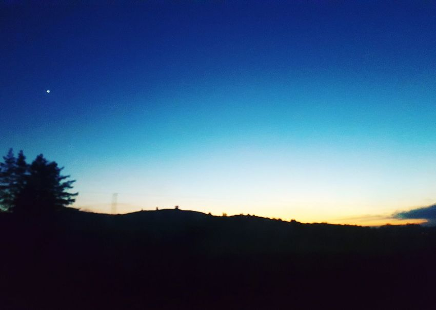 Silhouette Sky Blue Beauty In Nature Sunset Tree Tranquility Tranquil Scene No People Nature Astronomy Scenics Star - Space Outdoors Mountain Galaxy Day Ireland Landscapes Ireland Travel Cloud - Sky Tree Nature Landscape Beauty In Nature Finding New Frontiers