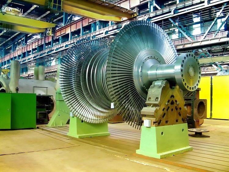 Industry Manufacturing Equipment Factory Machine Part No People Technology Turbine Turbin Turbine Blades Energy Steam Turbine Rotor