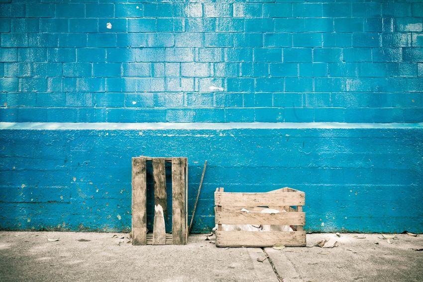 Crates on blue Cdmx Coyoacán Photography Mexico City Streets Mexico Urbano