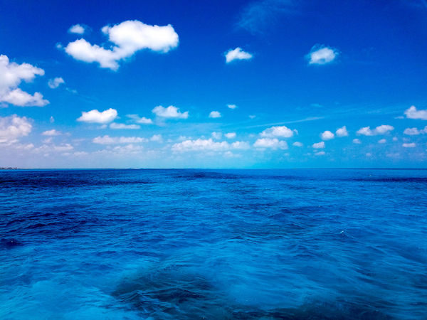 Blue Cloud - Sky Sky No People Scenics Nature Beauty In Nature Outdoors Water Tranquility Backgrounds Horizon Over Water Day Isla Mujeres Mexico Trapical Climate Mexico Cancun Springtime Spring May 2017 Vacation Clouds Travel Travel Destinations Island The Week On EyeEm
