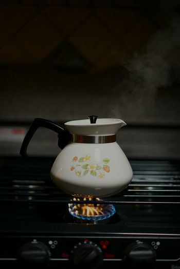 Happy Moments Enjoying Life Sony Container Gas Fire old stove Morning Time :) morning tea Coffee Time Steam steam column Steaming 1970's Memories water Kettle