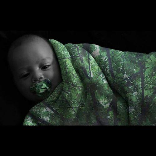 Nassim Cover Couverture Green Vert Feuille  Tree Arbre Doubleexposition Doubleexposure Baby Bebe Sucette Chill