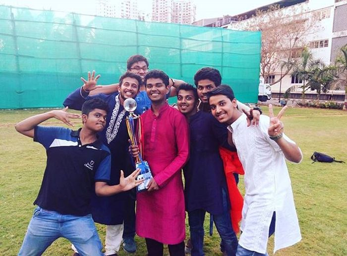 "We the V-Emperors !!!😍😍😍😘 When the efforts of a class as a whole bears fruit😍! ""ET1 "" WE ARE THE BEST. We are the class which has and will be enjoying their time together to the fullest. ET1 Vit College Winners Squad Class Spock P.S. :- We are killing the expression game here😂😂😂 Photobomb"