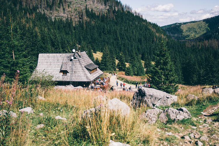 Poland Tatry Architecture Beauty In Nature Building Exterior Grass Hala Kondratowa Landscape Mountain Nature Outdoors Scenics Tree