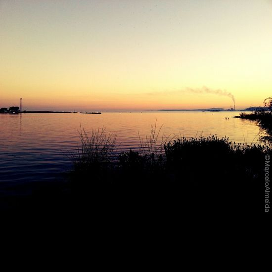 recharging batteries under the sunset → #PortoAlegre #sunset
