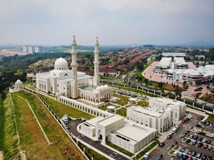 Aerial view sri sendayan mosque