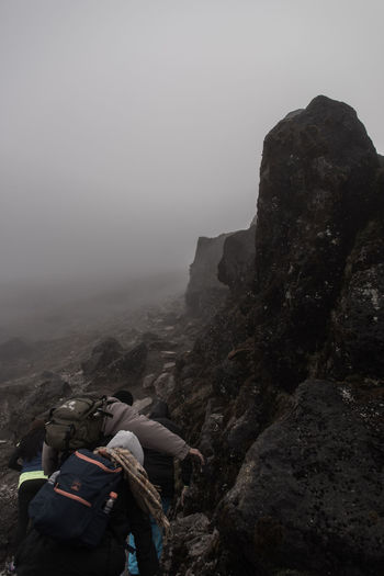 Adventure Bad Weather Climbing Colombia Extreme Terrain Fog Foggy Hiking Mountain National Park Nature No People Outdoors Perseverance Purace Rock Rocks Rocky Tough Climb Travel Destinations Trekking Volcano Bad Weather Cold Temperature