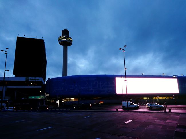 Night Car City Cloud - Sky Illuminated Outdoors Sky No People Architecture Building Exterior Neon Liverpool St John's Beacon Radio City Tower Radio City