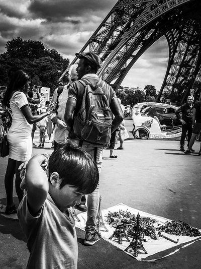 Your Ticket To Europe Trip Holiday Memories Paris Paris ❤ Being A Tourist Architecture Eiffel Tower Mykid Blackandwhite Photography Black&white Blackandwhite Hello World Check This Out Peoplephotography Tourist Attraction  Tourism Tourist