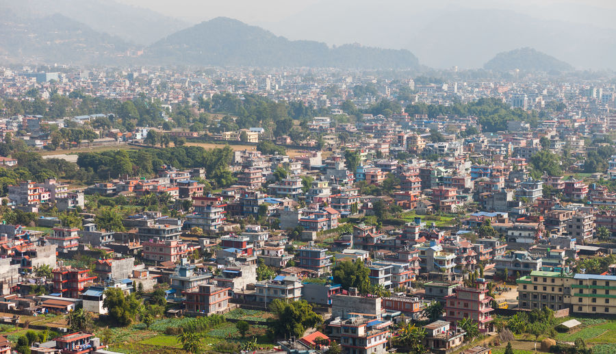 Buildings in the suburbs of Pokhara, Nepal
