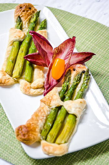 Food And Drink Herb Meal Temptation Asparagus Food Foodphotography Fresh Freshness Garnish Green Color Healthy High Angle View Indoors  Indulgence No People Organic Plate Ready-to-eat Serving Size Still Life Tabletop Vegetable Wellbeing Yummy