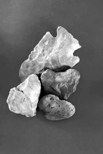Gray Scale  Texture Gray Scale  Stones Heart Rocks Missouri Ozarks United States Unusal Artifacts Rocks Heart Shaped  No People Studio Shot Indoors  Close-up